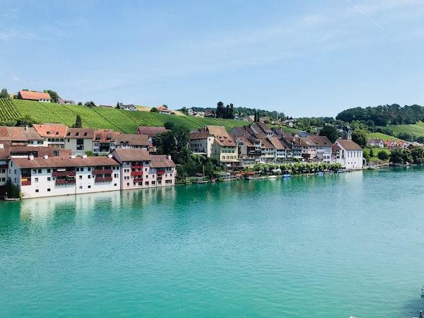 Blick auf die Altstadt und Rhein