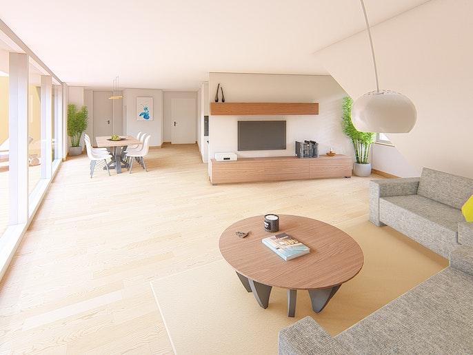 3.5 Attika Wohnung: Wohnen / Essen