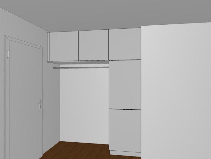 Muster eingebaute Garderobe