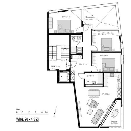 Grundriss WHG 20