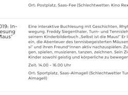Sportplatz Saas Almagell 12.7.19