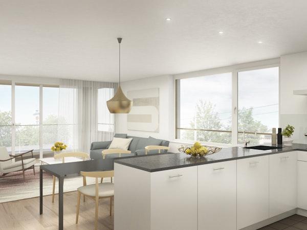 Küche und Wohnen 3.5-Zimmerwohnung 1.OG