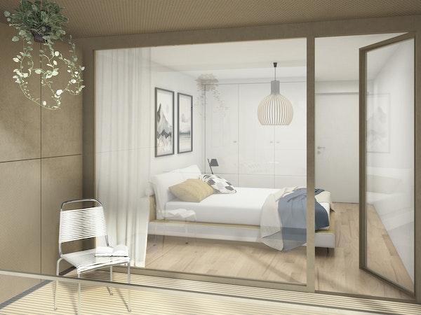 Blick von Loggia ins Zimmer