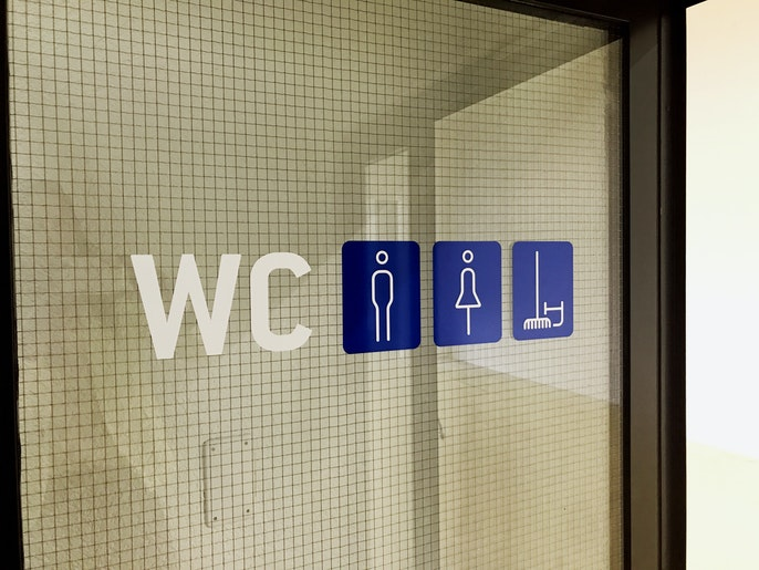 Toiletten auf dem 2. Geschoss