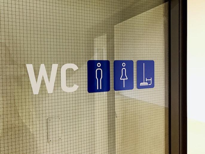 Toiletten für Damen und Herren