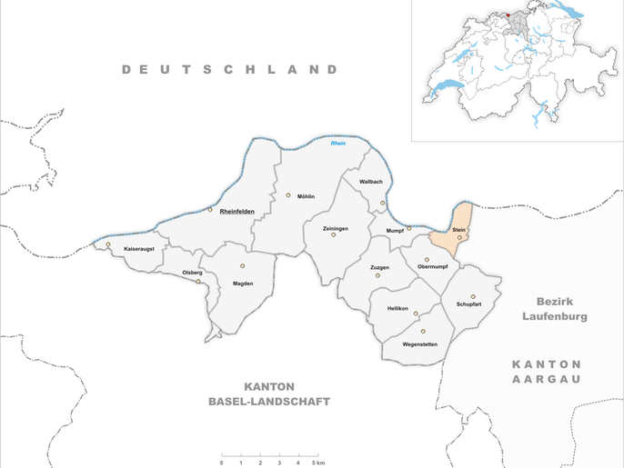 Lage Bezirk Rheinfelden