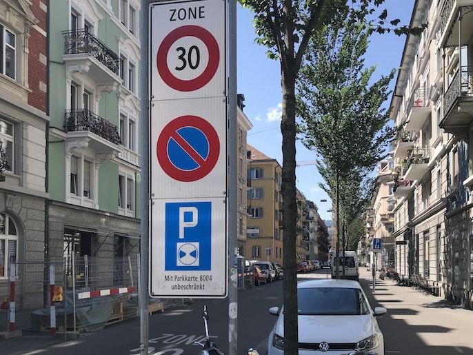 Verkehrsberuhigte Strasse