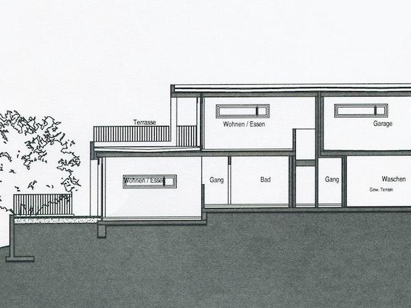 Schnitt Zweifamilienhaus