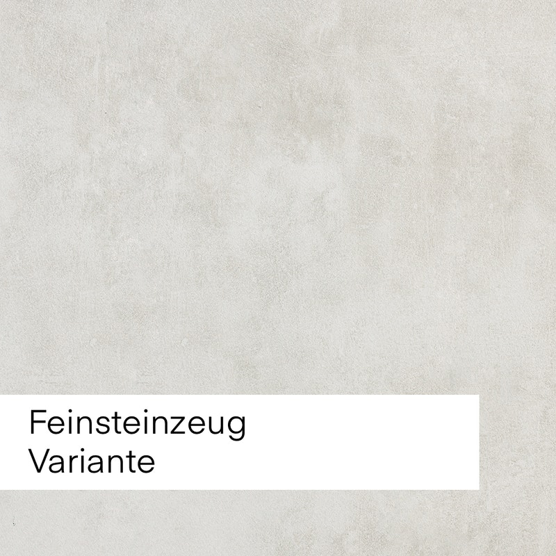 Bild mit Beispiel mit sehr hellem Feinsteinzeug für die Auswahl im Innenausbau.