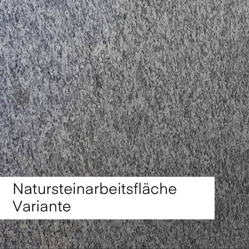 Bild mit Beispiel Natursteinfläche in grauer Maserung.