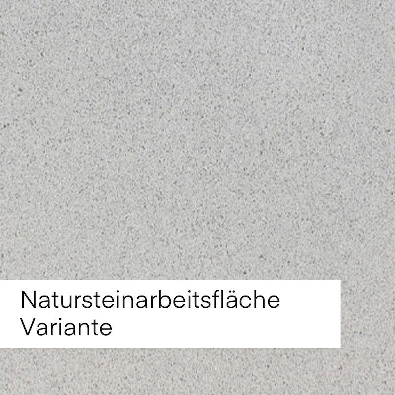 Bild mit Beispiel Natursteinfläche in hellgrauer Farbe.