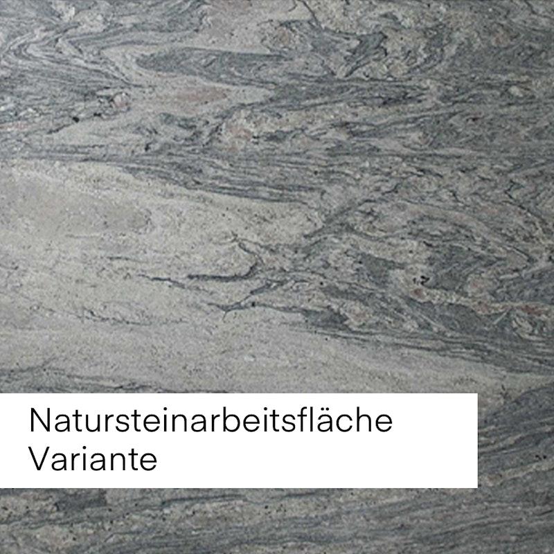 Bild mit Beispiel Natursteinfläche in grauer Struktur.