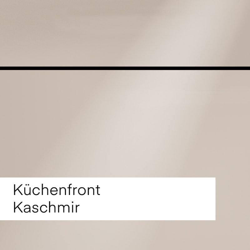 """Bild mit Beispiel Küchenfront """"Kaschmir"""" hellbraun für die Auswahl im Innenausbau."""