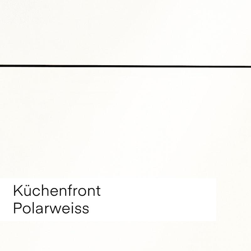 """Bild mit Beispiel Küchenfront """"Kaschmir"""" hellweiss für die Auswahl im Innenausbau."""