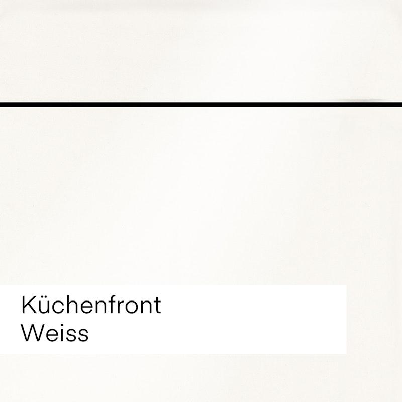 """Bild mit Beispiel Küchenfront """"Kaschmir"""" cremig weiss für die Auswahl im Innenausbau."""