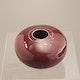 Vase pocelain in oxblood glaze H6cm D10cm