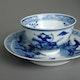 China Kangxi Jingdezhen porcelain cup and saucer for export.