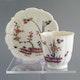 Cup&Saucer Saint-Cloud around 1725-1730. Cup: D7.5cm H7.5cm,  saucer: D13.5cm (n/a)