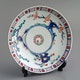 Plate Kakiemon, D20.5cm one of 6, 19th C, Kaga province? Undeglaze blue, other colors overglazed.