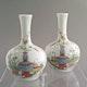 China vases a pair, late Qianlong, ca. 1790, Jingdezhen kiln production