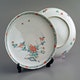 Plates Kakiemon (2 of 6), probably early 20th C, D20cm