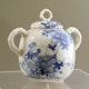 Japan lidded jar, Edo period, handpainted Seto porcelain