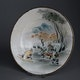 Japan Satsuma dish Meiji period or later 1920-1950? 1 of 3 with different scenes.
