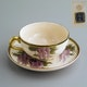 Cup and saucer, Satsuma ware, handpainted