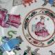 China detail of a Wu Shuang Pu decorated plate, Tongzhi period.