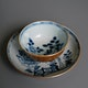 Cup & saucer ca. 1680, export porcelain from Jingdezhen, D9 and 13.5cm H cup 5cm.