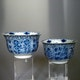 Cups Jingdezhen porcelain, Kangxi period, signed in double rings, D8.2cm, H5.5cm.