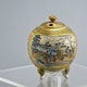 Koro (incense burner) Meiji period H8cm D7.5cm, crack, very fine painting scenes