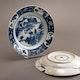 "Japan Arita porcelain plates, ca. 1690-1720, marked ""Kichi"" (good luck)."
