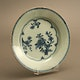 Plate Jingdezhen porcelain fired, decorated in the Pearl river area, export ware, ca. 1780, 22.5x3cm.