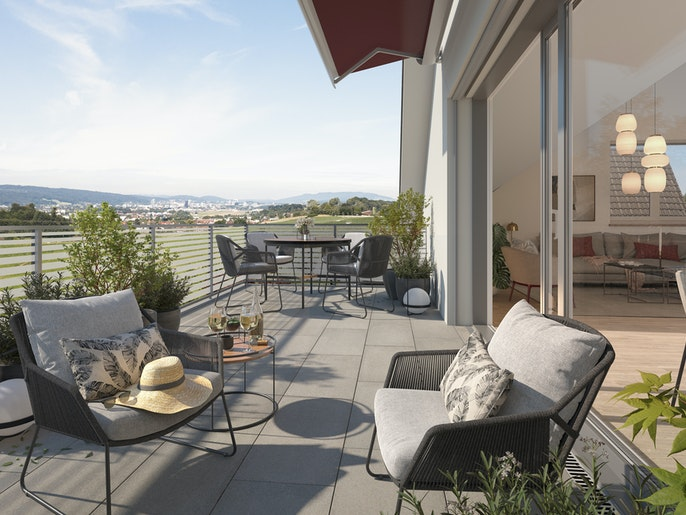 Balkon: Erweitertes Wohnzimmer im Freien.