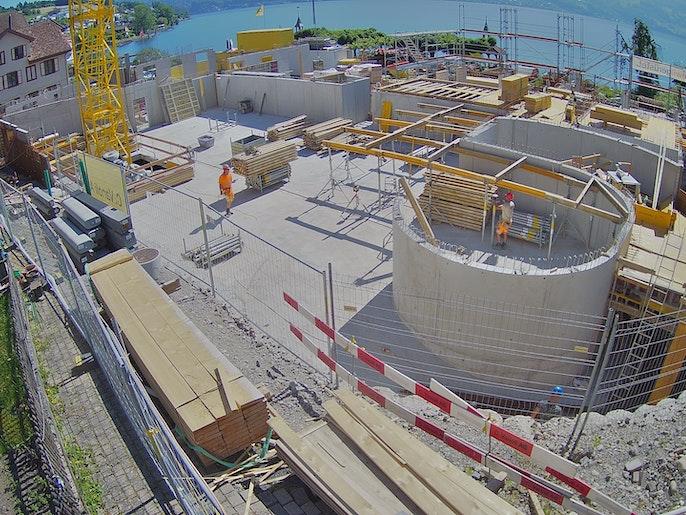 Baufortschritt vom 14. Juni 2021
