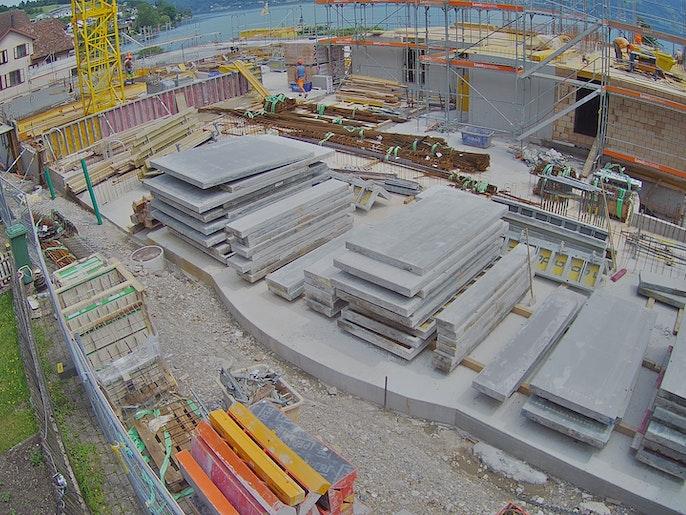 Baufortschritt vom 12. Juli 2021