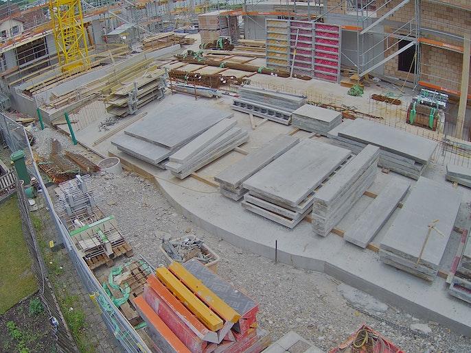 Baufortschritt vom 24. Juli 2021