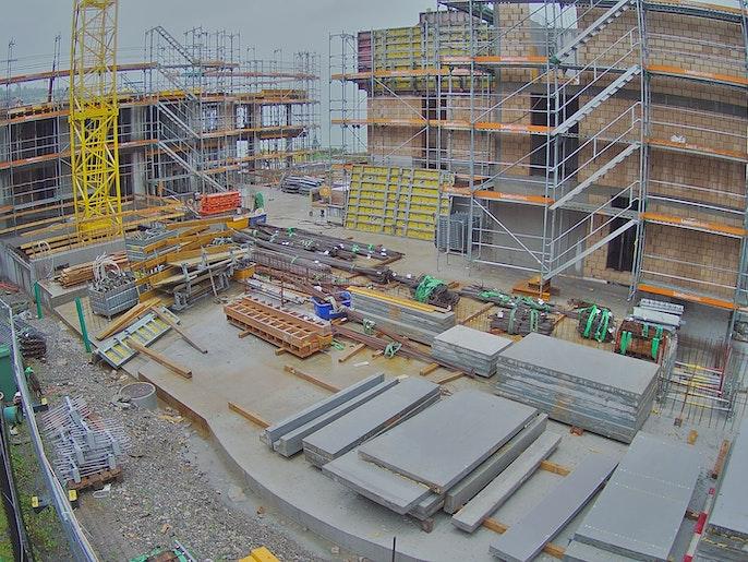 Baufortschritt vom 16. August 2021