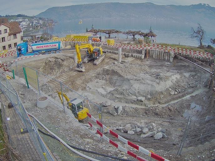 Baufortschritt vom 22. Februar 2021