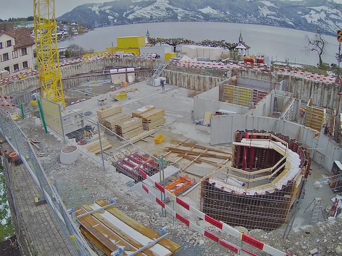 Baufortschritt vom 6. April 2021
