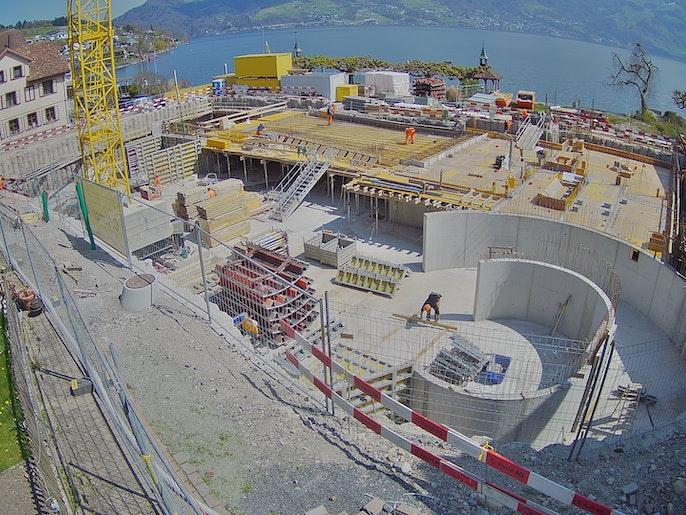 Baufortschritt vom 20. April 2021