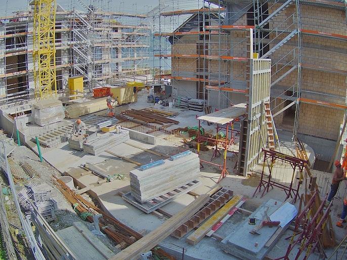 Baufortschritt vom 27. September 2021