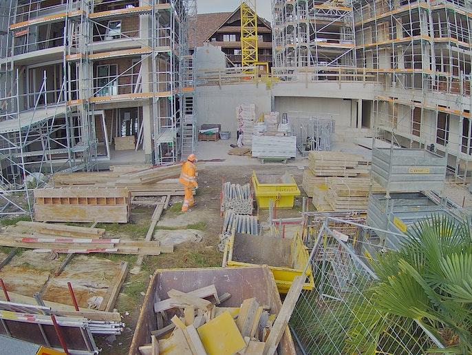 Baufortschritt vom 11. Oktober 2021 (neu Kamera auf der Seeseite)