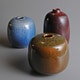 Vases miniature, 1980's all have the Chapallaz signature sizes: H7, 8 & 9cm (n/a)