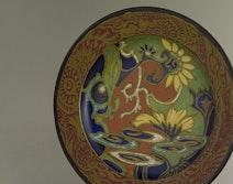 Art Nouveau dish, Gouda Holland, design Breetvelt, 1920's